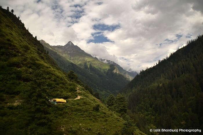 Views while trekking back