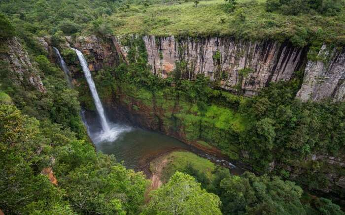 Aerial view of Mac Mac Falls near Kruger