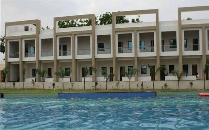 Banyan Paradise Resort stay by the poolside in Vadodara