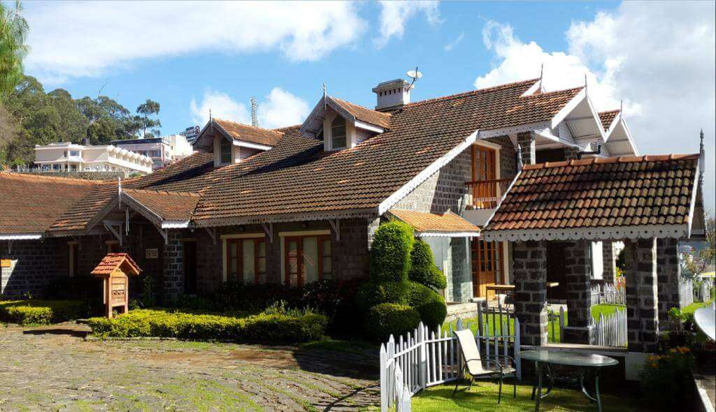 a traditional style resort in Kodaikanal