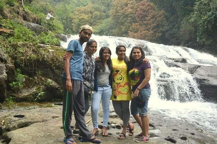 trekking near waterfalls