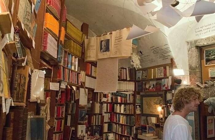 Atlantis Books in Oia