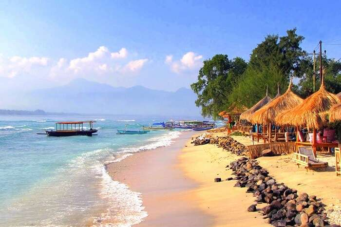 enjoy panoramic views of the ocean from Gili air island