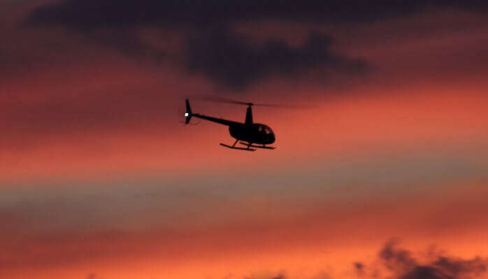 Helicopter_Sunset_