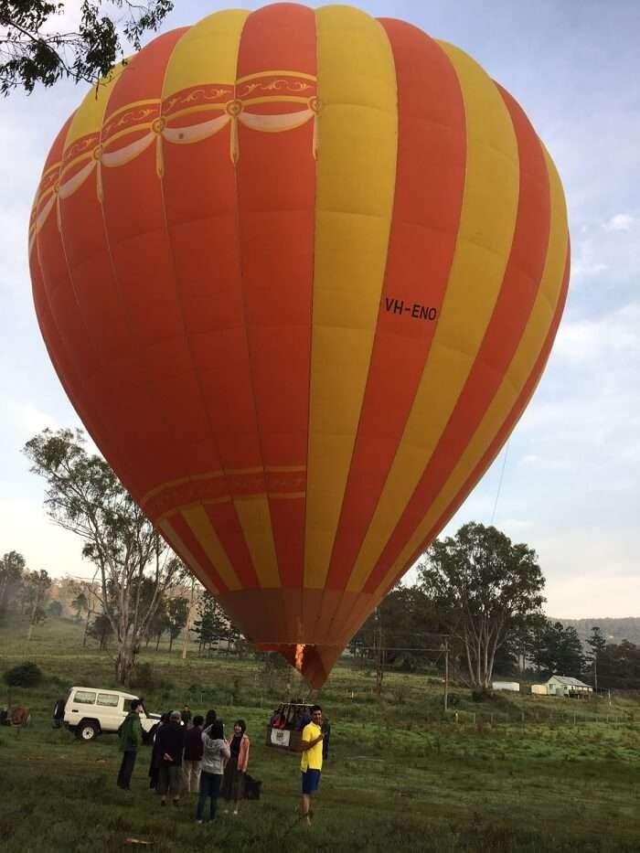 balloon ride in gold coast