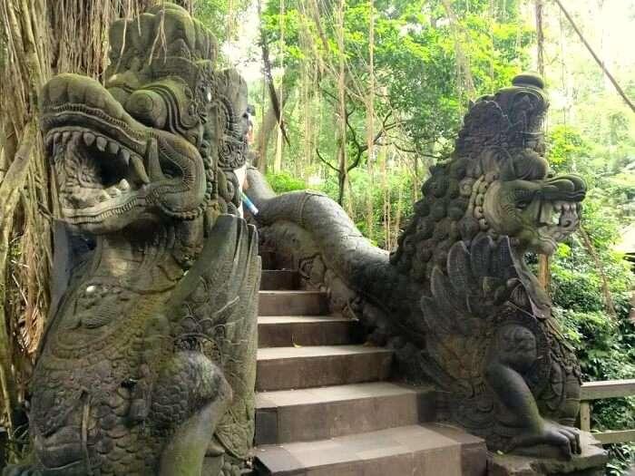 monkey forest bridge ubud
