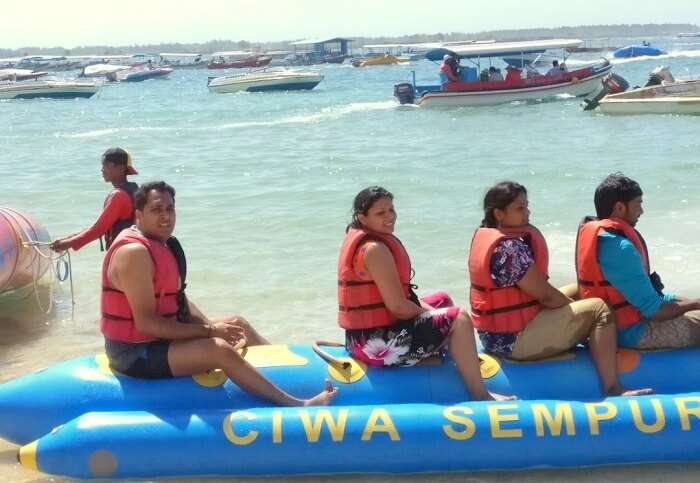 water sports at nusa dua