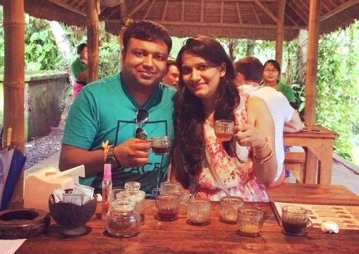 coffee tasting in Bali