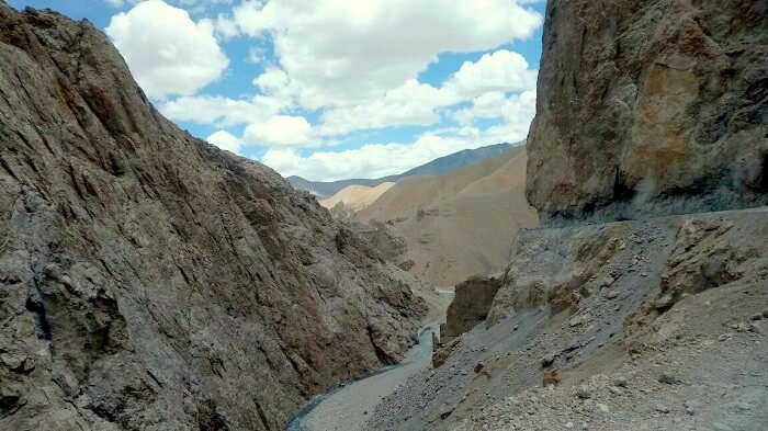 rough terrain in sarchu