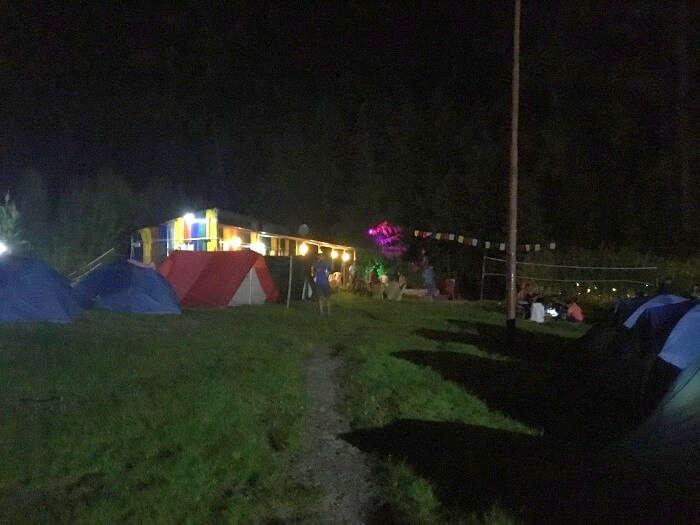 night camping in kasol