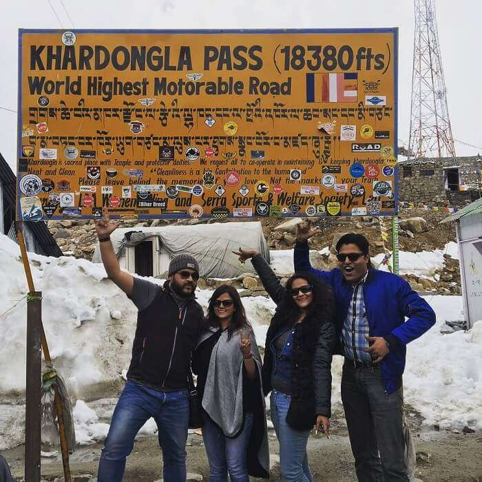 khardongla pass in ladakh