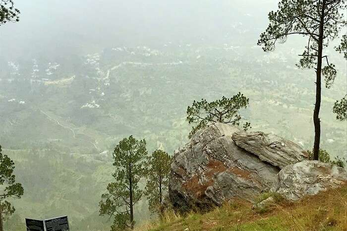 incredible view en route ranikhet