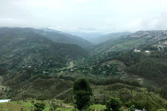 scenic hills around binsar