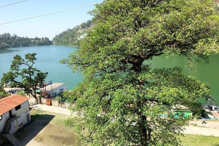 view from the resort at bhimtal