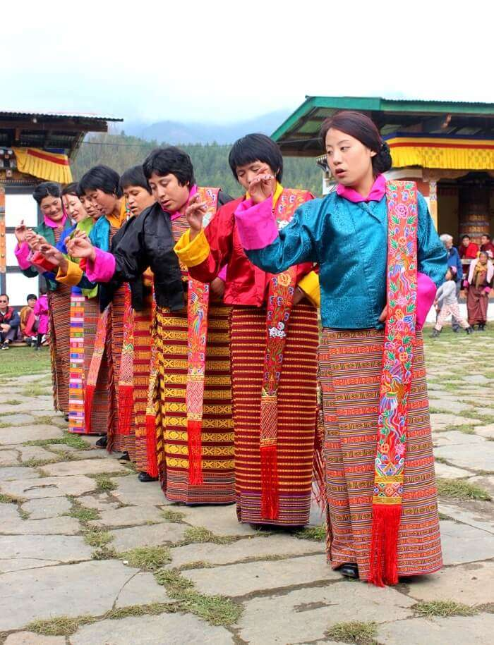traditional dance performance in bhutan