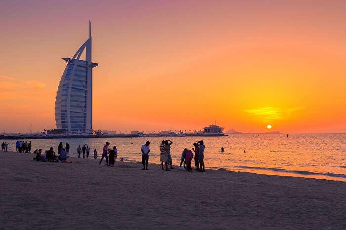 laze around on jumeirah beach