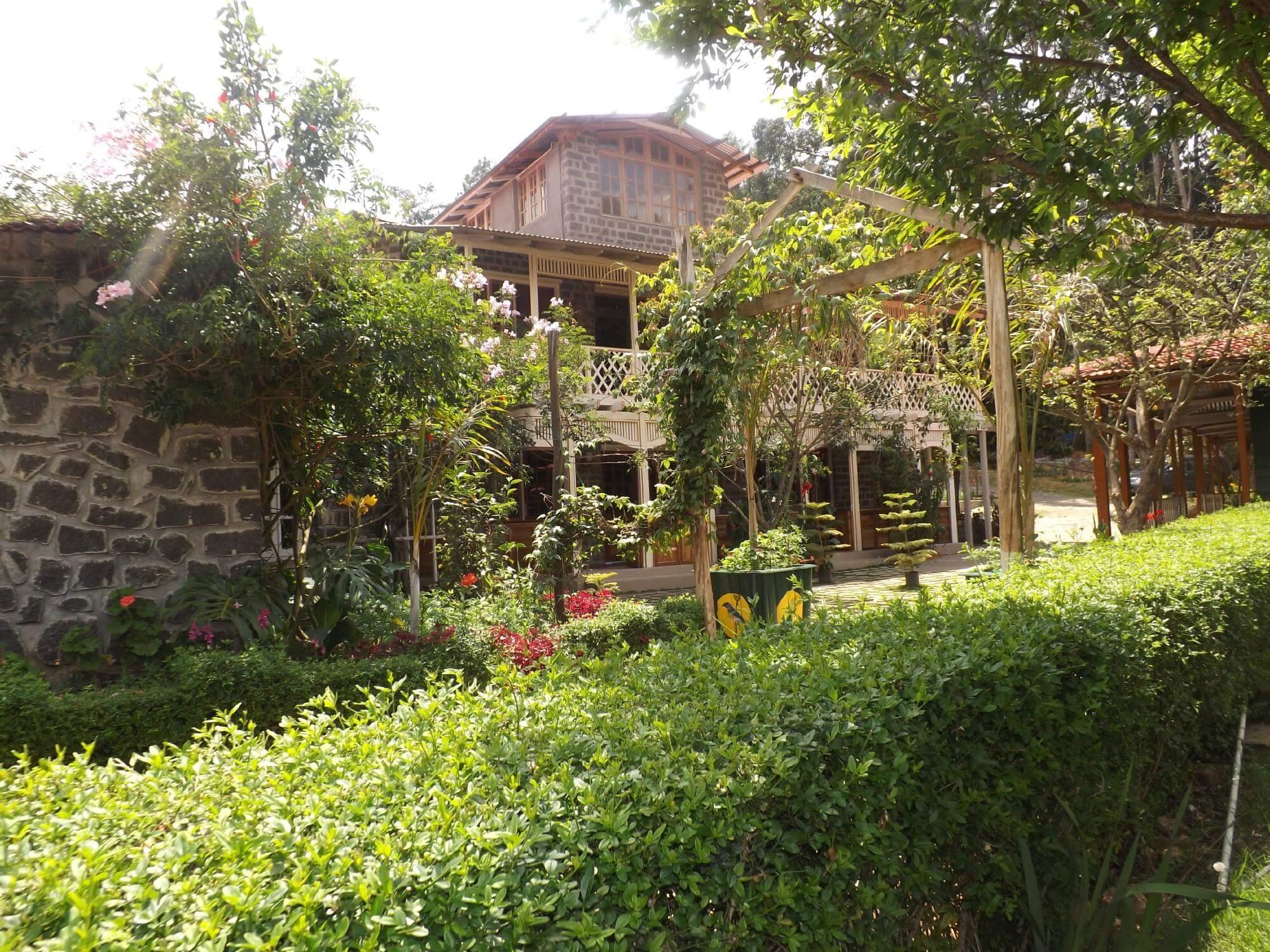 a beautiful resort amid vast gardens