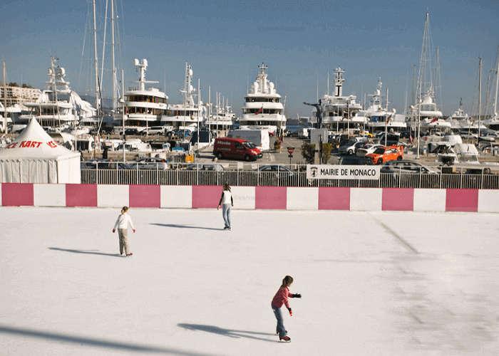 Ice-skating in Monaco