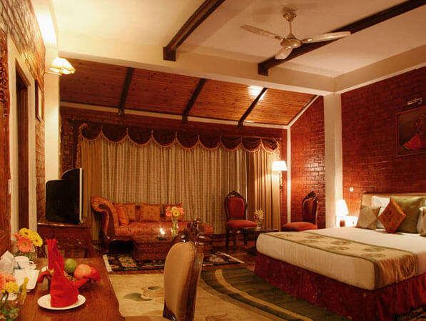 a lavishing bedroom of a resort