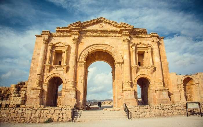 Roman Ruins - a prominent structure in Jordan