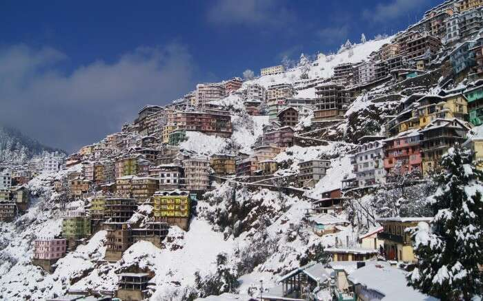 Shimla during snowfall