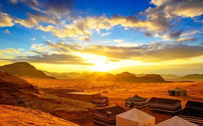 Sunset in Wadi Rum- one of the top tourist attractions in Jordan