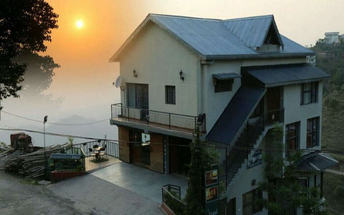 Sunset view from Kasauli Residency hotel