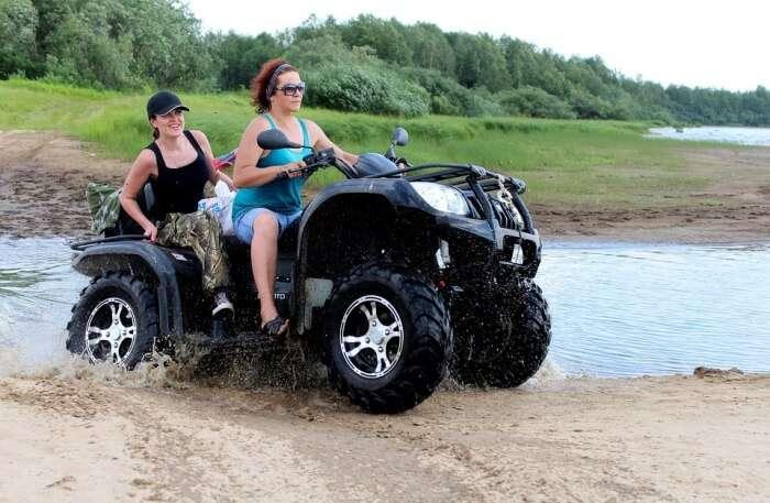 island on an ATV