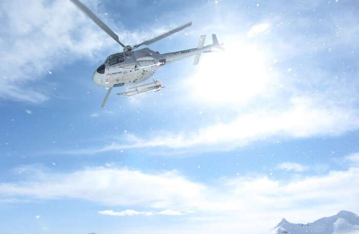 Heli skiing in British Columbia