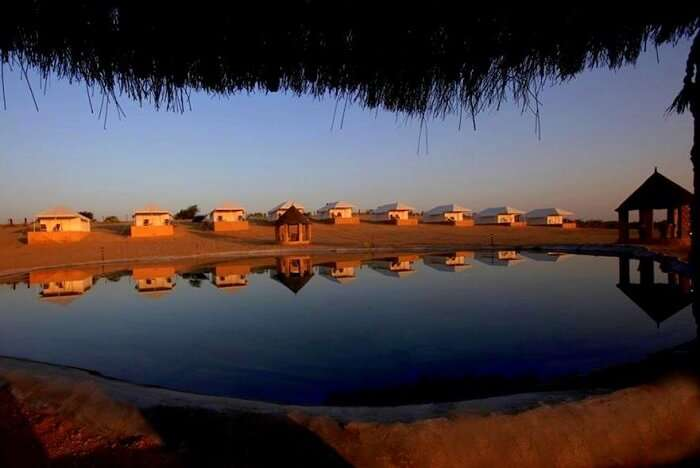 Thar Oasis Resort & Camp tents near lake