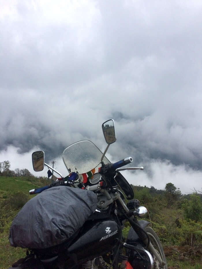 solo bike trip to bhutan