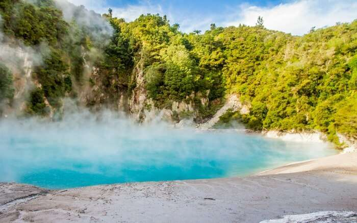 Waimangu near Rotorua in New Zealand