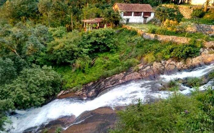 A stream flowing by Ajith's Homestay in Yercaud