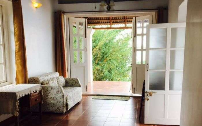 A view of the living room of Tippery Homstay in Yercaud