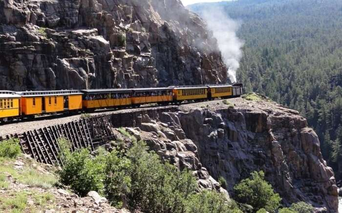 Grand Canyon Railway running in the Grand Canyons in the USA