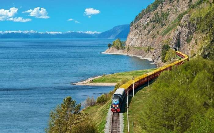 Trans-Siberian Rail enroute Moscow in Russia
