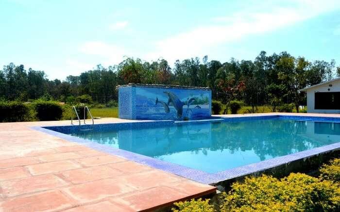 huge swimming pool of a resort
