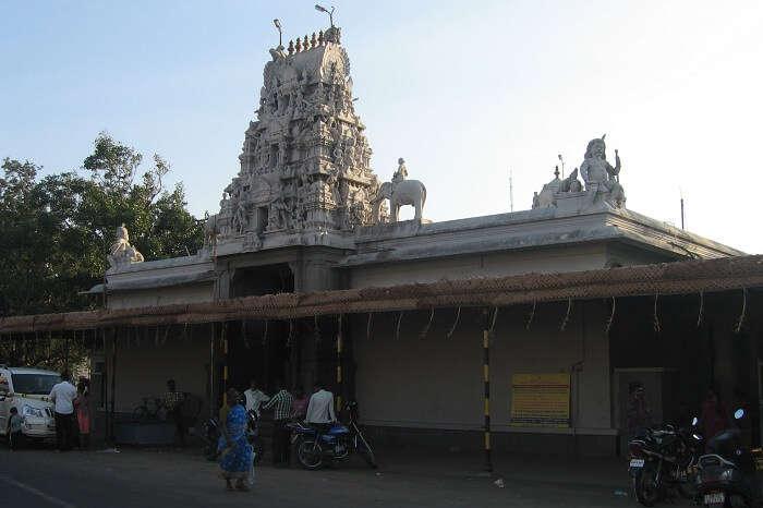 A snap of the beautiful Eachanari Vinayagar Temple in Coimbatore