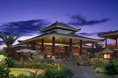 a luxurious and beautiful traditional style resort
