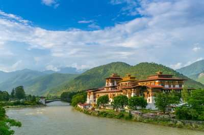 a beautiful monastery in the mesmerizing hills of Bhutan