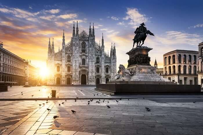 Duomo in Milan at sunrise