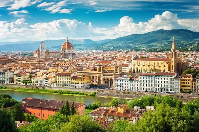 The cityscape of Florence in Italy