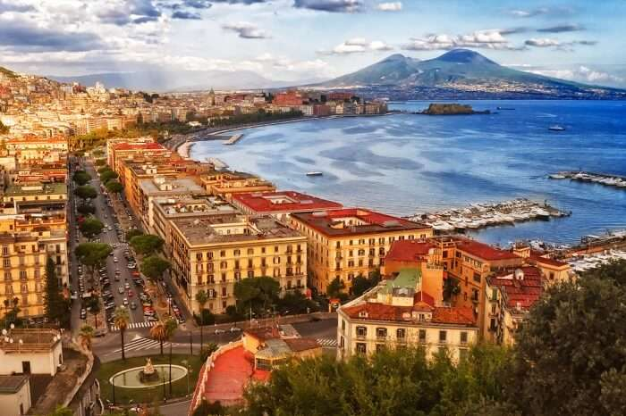 Stunning view from the Posillipo hill in Naples