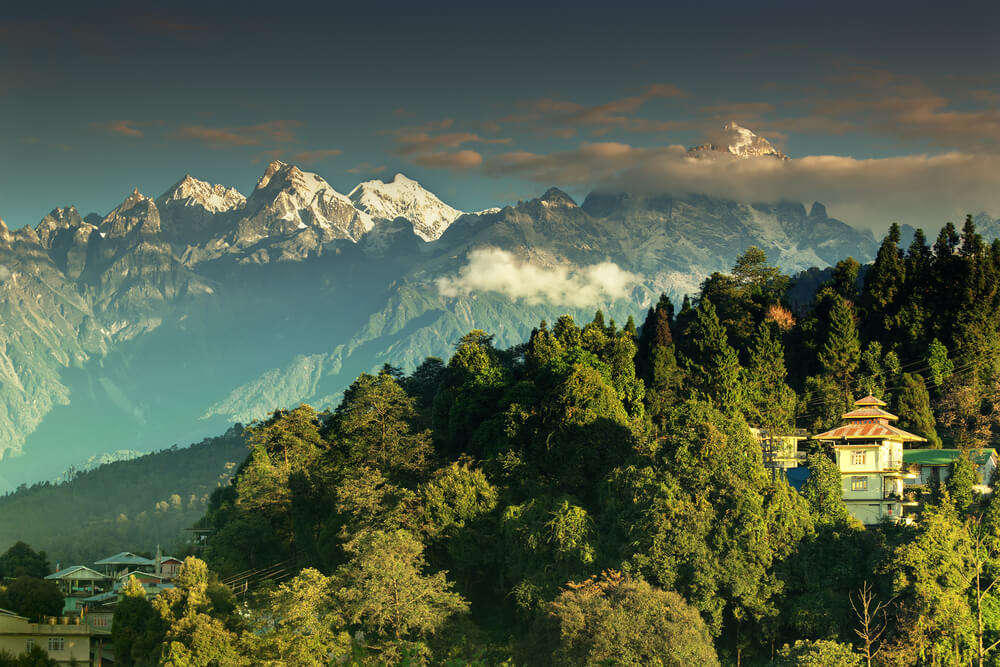 a small village in the mountains of Sikkim