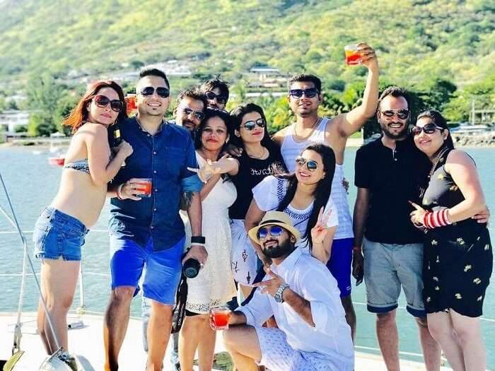 party on a cruise in Mauritius