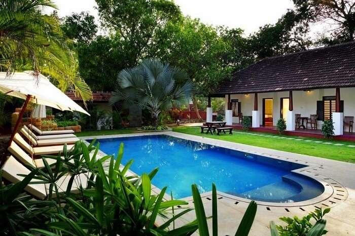 Beachfront villas in Kerala