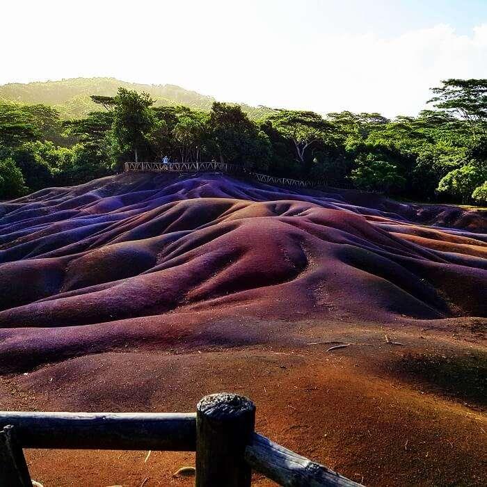 Seven colored earths Mauritius