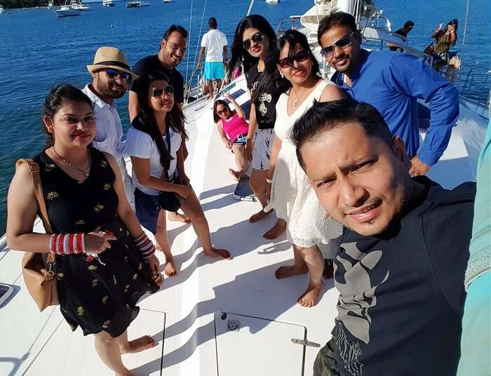 Cruise party in Mauritius