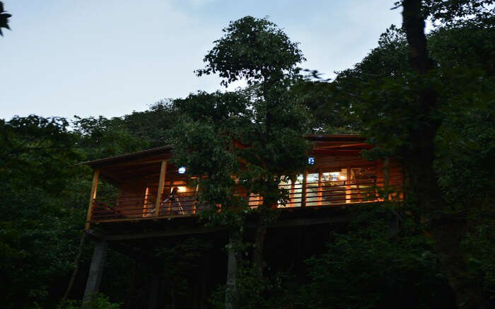 A beautiful view of Cottage Nirvana Treehouse in Nainital