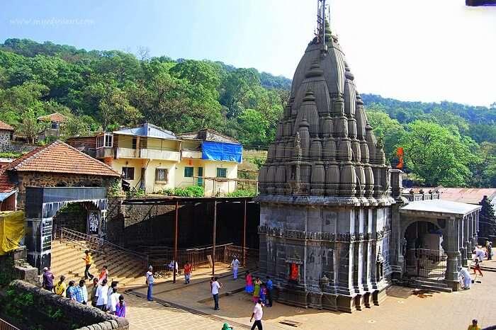 pay respects at Bhimashankar Jyotirlinga Temple